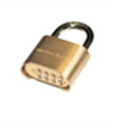50mm Combination Brass Padlock
